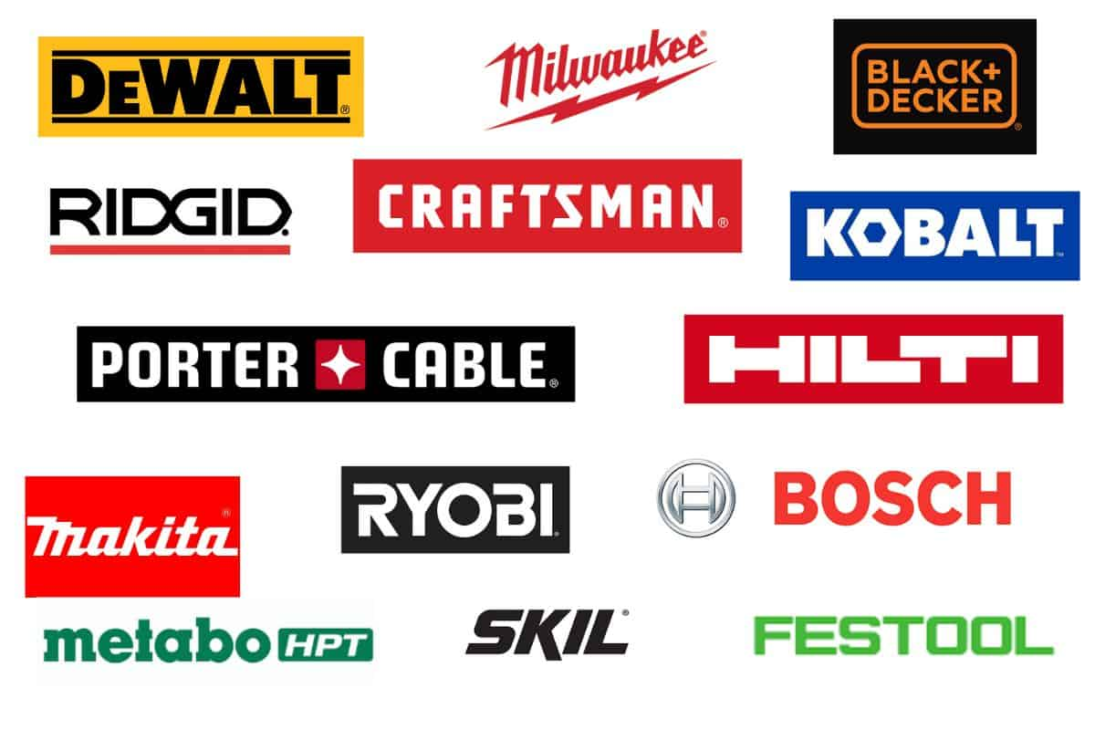 A collection of the best power tool brand logos