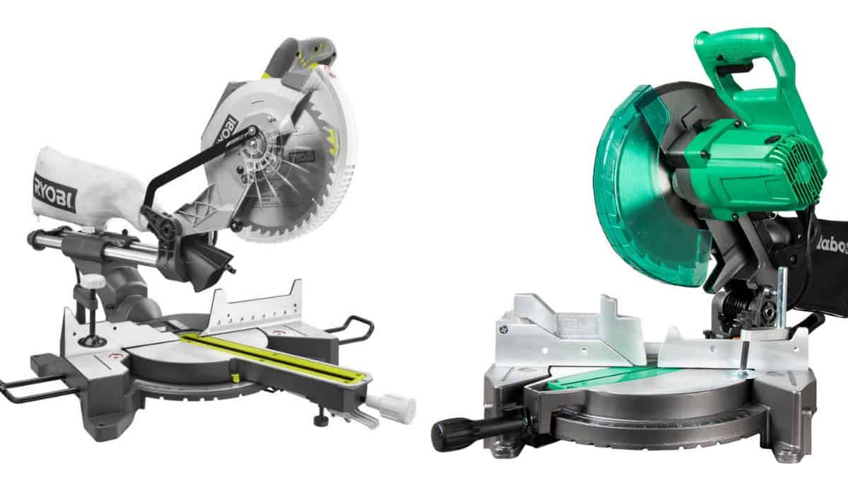 An image of a sliding and non-sliding miter saw