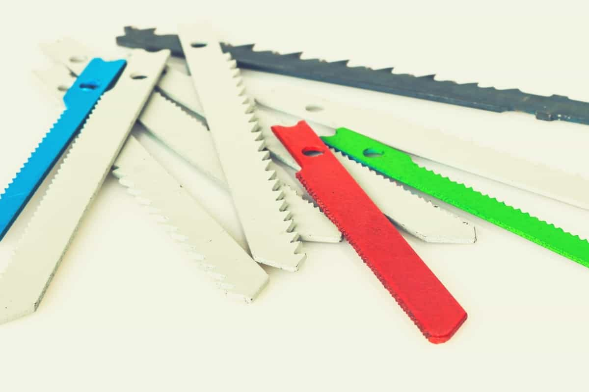 A pile of assorted reciprocating saw blades